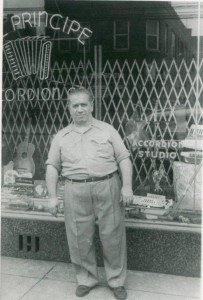 Uncle Otto in front of the store on North Ave.